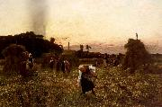 Jules Breton Dleaners at Sunset oil painting picture wholesale