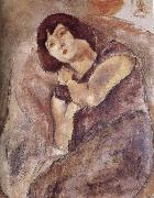 Jules Pascin Lucy wearing the purple oil painting