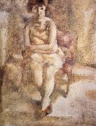 Jules Pascin Have red hair Lass oil painting