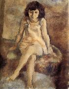 Jules Pascin Be seated lass oil painting