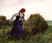 Julien  Dupre The Tedder oil painting picture wholesale