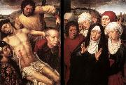 MEMLING, Hans Diptych with the Deposition oil painting picture wholesale