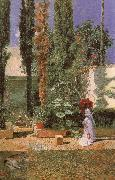Mariano Fortuny y Marsal Fortuny-s Garden oil painting
