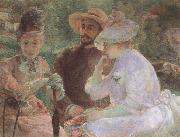 Marie Bracquemond On the Terrace at Sevres oil painting artist