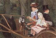Mary Cassatt A Woman and Child in the Driving Seat oil painting picture wholesale