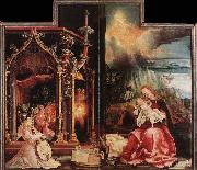 Matthias  Grunewald Concert of Angels and Nativity oil painting picture wholesale