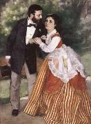 Pierre-Auguste Renoir Alfred Sisley and His wife oil painting picture wholesale