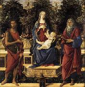 Sandro Botticelli The Virgin and Child Enthroned oil painting picture wholesale