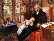 Sir John Everett Millais James Wyatt and His Granddaughter oil painting picture wholesale