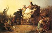 Sir John Everett Millais Pizarro Seizing the Inca of Peru oil painting picture wholesale