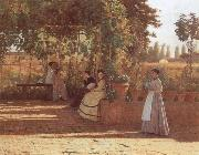 Sylvestro Lega The Pergola oil painting picture wholesale