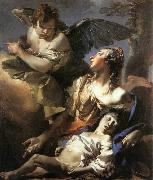TIEPOLO, Giovanni Domenico The Angel Succouring Hagar oil painting picture wholesale