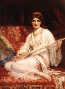 William Clarke Wontner The Dancing Girl oil painting picture wholesale