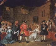 William Hogarth Scene from Tiggaroperan oil painting picture wholesale