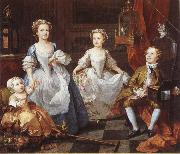 William Hogarth Famijen Graham's children oil painting picture wholesale