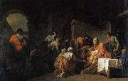 unknow artist Belisarius Receiving Hospitality from a Peasant Who Had Served under Him oil painting picture wholesale