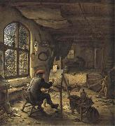 Adriaen van ostade The Painter in his Studio oil painting artist