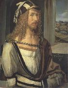 Albrecht Durer Self-Portrait with Landscape oil painting picture wholesale