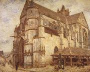 Alfred Sisley The Church at Moret-Icy Weather oil painting picture wholesale