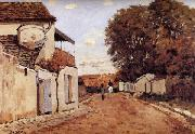 Alfred Sisley Street in Louveciennes oil painting artist