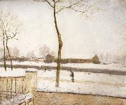 Alfred Sisley Snow Scene,Moret Station oil painting picture wholesale