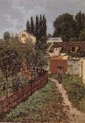 Alfred Sisley Garden Path in Louveciennes oil painting artist