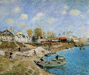 Alfred Sisley Sand on the Quayside,Port Marly oil painting artist