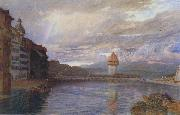 Alfred William Hunt,RWS Lucerne (mk46) oil painting artist