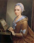 Anna Bacherini Piattoli Self-Portrait oil