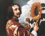 Anthony Van Dyck Self-Portrait with a Sunflower oil painting picture wholesale
