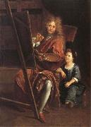 Antoine Coypel Portrait of the Artist with his Son,Charles-Antoine oil painting picture wholesale
