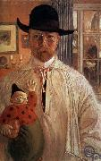 Carl Olaf Larsson Self-Portrait oil painting artist