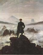 Caspar David Friedrich Wanderer Watching a Sea of Fog (mk45) oil painting picture wholesale