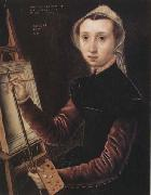 Catharina Van Hemessen Self-Portrait oil