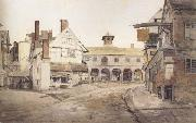 Cornelius Varley Ross Market Place,Herefordshire a sketch on the spot (mk47) oil painting artist