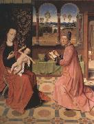 Dieric Bouts Saint Luke Drawing the Virgin and Child oil painting picture wholesale