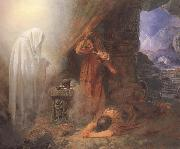 Edward Henry Corbould,RI,RWS Saul and the Witch of Endor (mk46) oil