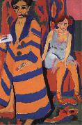 Ernst Ludwig Kirchner Self-Portrait with Model oil painting picture wholesale