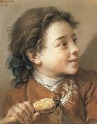 Francois Boucher Boy holding a Parsnip oil painting picture wholesale