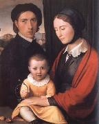 Friedrich overbeck The Artist with his Family oil painting picture wholesale