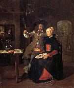 Gabriel Metsu Self-Portrait with his Wife Isabella de Wolff in an Inn oil painting picture wholesale