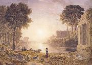 George Barret Classical Landscape Sunset (mk47) oil painting picture wholesale
