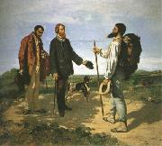 Gustave Courbet The Meeting or Bonjour,Monsieur Courbet oil painting picture wholesale