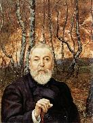 Hans Thoma Self-Portrait before a Birch Wood oil painting picture wholesale