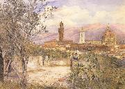 Henry Roderick Newman View of Florence,From the Gardens fo the Palazzo de'Mozzi (mk46) oil painting picture wholesale