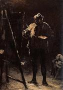 Honore Daumier The Painter before his Picture oil painting artist