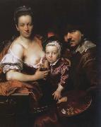 Johann kupetzky Portrait of the Artist with his Wife and Son oil painting artist