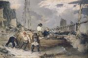 John Augustus Atkinson Fishermen hauling out ready to put to sea (mk47) oil painting picture wholesale