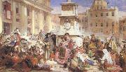 John Frederick Lewis Easter Day at Rome (mk46) oil painting artist