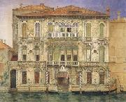 John wharlton bunney Palazzo Manzoni,on the Gradn Canal,Venice (mk46) oil